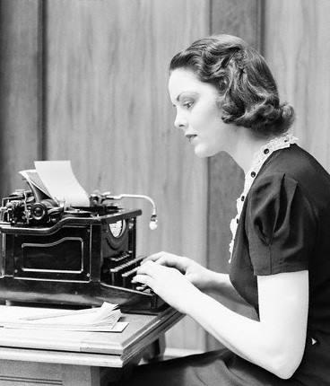 a typist